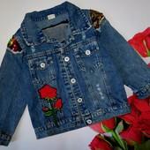Шикарная джинсовая курточка в состоянии новой на рост 110-116