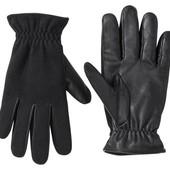 Шикарные кожаные перчатки с войлоком, на флисе, Livergy Германия, размер 9