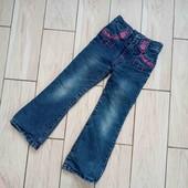 теплые джинсы на флисе 110-116