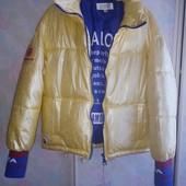 Шикарная куртка пуховик люкс качество лимонная