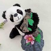 Панда прищепка обнимашки на трубу или цветок интерьерная