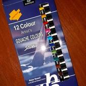 Акриловые краски - 12 цветов! Новые!