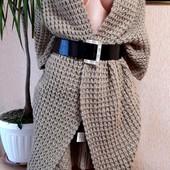 ❤❤❤Шикарний кардиган-пальто з товстою вязкою від Eksept