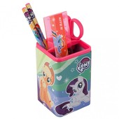 Комплект канцелярского набора Kite «Little Pony».Металлический стакан,ножницы,линейка,2 карандаша