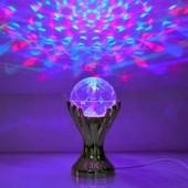 Светодиодная Диско-лампа-ночник - шар в руке!
