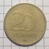 Монета Венгрии 20 форинтов 1993