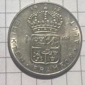 Монета Швеции 1 крона 1972