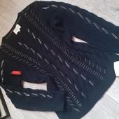 Бомбезный свитер цепи нереально крутой свитер цепи реальные не имитация цвет чисто черный камера не