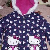 Деми курточка для принцессы 9-1.5года.смотрите замеры.