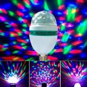 диско лампа светодиодная .вращается.