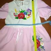 Платье вышиванка на 3-4г.в отличном состоянии, повязка в подарок, УП -10%