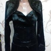 Платье с болеро расшито паетками уп-10%