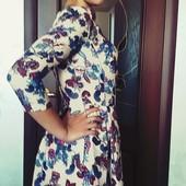 Платье в идеале на весну в офис цветы классика Турция не секонд! р.42-44