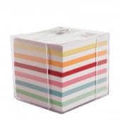 Бумага разноцветная для заметок с пластиковой подставкой United Office 9х9см 800листов