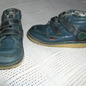 Kickers Синие ботинки , натуральная кожа, ст. 19,5см