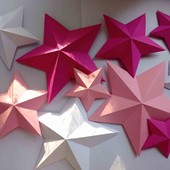 3-D звезды, набор10 шт
