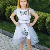 к 8 марта. Шикарное,очень нарядное вышитое платье 1шт на выбор