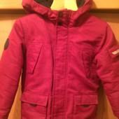 Куртка. холодная весна, внутри шерпа 4-5 лет 110 см, Rebel by Primark. cостояние хорошее