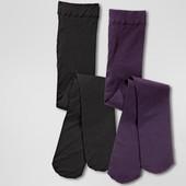лот 2 пары Капроновые колготки для девочки . плотность 60 ден Tchibo(германия), размер 122-128 черны
