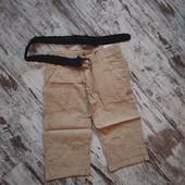 Лёгкие коттоновые шорты, пояс в комплекте, р140,164на выбор