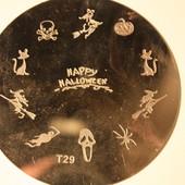 Диск для стемпинга маникюра рисунков на ногтях №5 хеллоуин