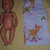 2 подушки,одеяло и простыня плюс одежда все одним лотом для куклы
