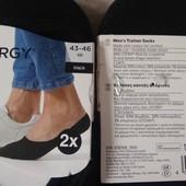 4 пары! Мужские трикотажные носки следки Livergy Германия 43-46 размер, цвет: черный