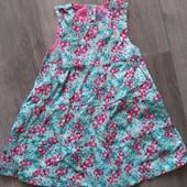 Хлопковый розовый сарафан Lupilu! Германия! 86-92р.