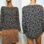 Стильная блуза с удлинённой спинкой Zara р М