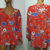 Шикарная блуза туника  , свободная 20uk  3xl- 4xl- 5xl на пышные формы  , смотрим замеры