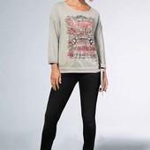 Класненький свитшот двунитка Soccx с оригинальным принтом для стильных модниц .