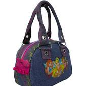 Красивая сумочка Winx для девочки, джинс с апликацией