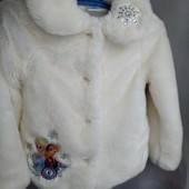 Шубка Disney Холодное сердце с Эльзой на весну на 8-9 лет