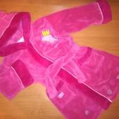 Peppa Pig, махровый халат для девочки с капюшоном, на 1,5-2 года, на рост 92