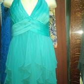 Яркое платье(48-50) лето на подкладке супер атлас+шифон(мне мало. Так и не одела)