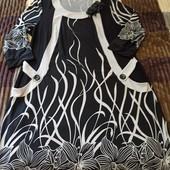 Нарядное платье с карманами на 54-56р