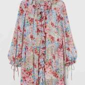 красивое цветочное платье л ,h&m