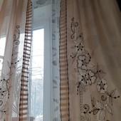 Класснючий комплект,тюль+шторы