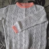 Нарядный свитерок для девочки (смотрите замеры)