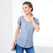 Романтическая блуза - рубашка в клетку из био-хлопка от Tchibo(германия) размер 44 евро
