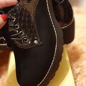 Шикарные весенние ботиночки по супер цене.Живые фото