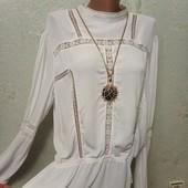 Шикарная нарядная белая блуза Gestuz с ажуром р.40 евро Новая Акция читайте