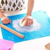 Коврик силиконовый для выпечки и раскатки с разметкой 70 на 70 см