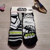 Star wars! Махровые носки на мальчика 31-34 размер 2 шт в наборе