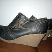 38 размер, Классные легусенькие высокие туфли- полуботиночки на платформе