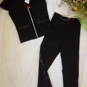 Святкові подарунки!!! Неймовірні костюми:жилетка і стильні брюки.Прикрашений паєтками.В лоті чорні.