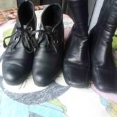 в лоте 2 пары. кожаная обувь 40р.
