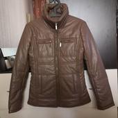 Демисезон, стильная, куртка на синтапоне, кожзам. Р. XS