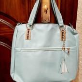 Новая сумка нежно голубая с витрины