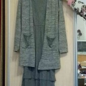 Стильний комплект з плаття і кардигана